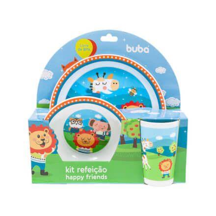 Kit Refeição para Bebê Happy Friends - Buba