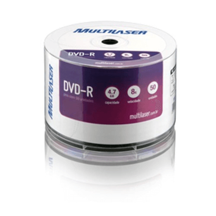 Midia Dvd -R Vel. 08x - 50 Un. Shrink P.Plus Multilaser - DV