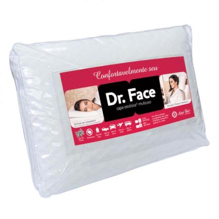 Travesseiro de viagem Dr. Face Luigi Trevi 50x70 Fibrasca -
