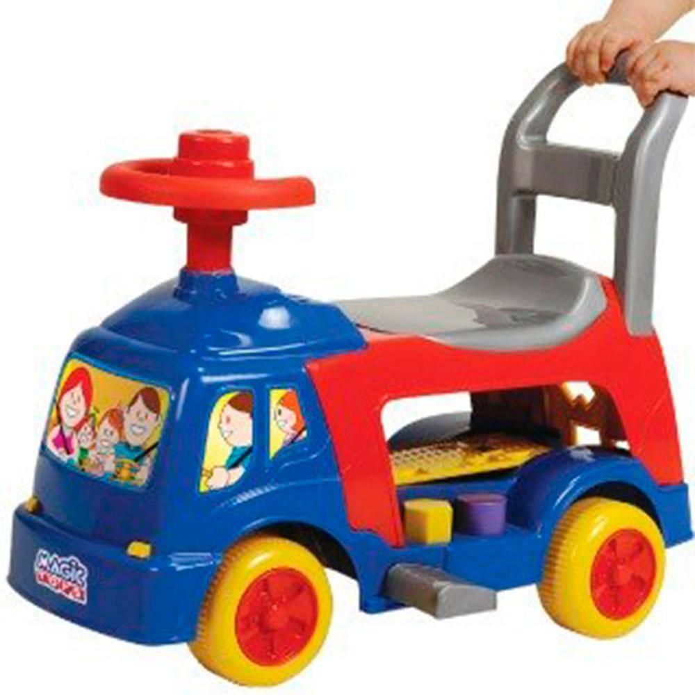 Andador Educativo 4 em 1 - Azul - Magic Toys