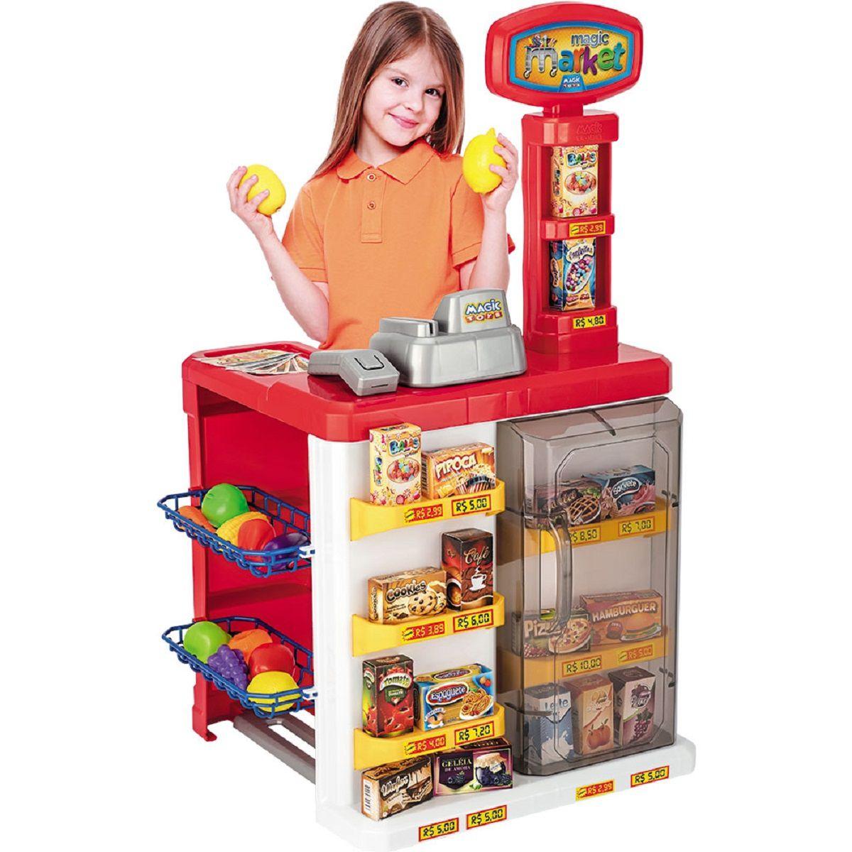 Brinquedo de Faz de Conta Magic Market - Vermelho - Magic Toys