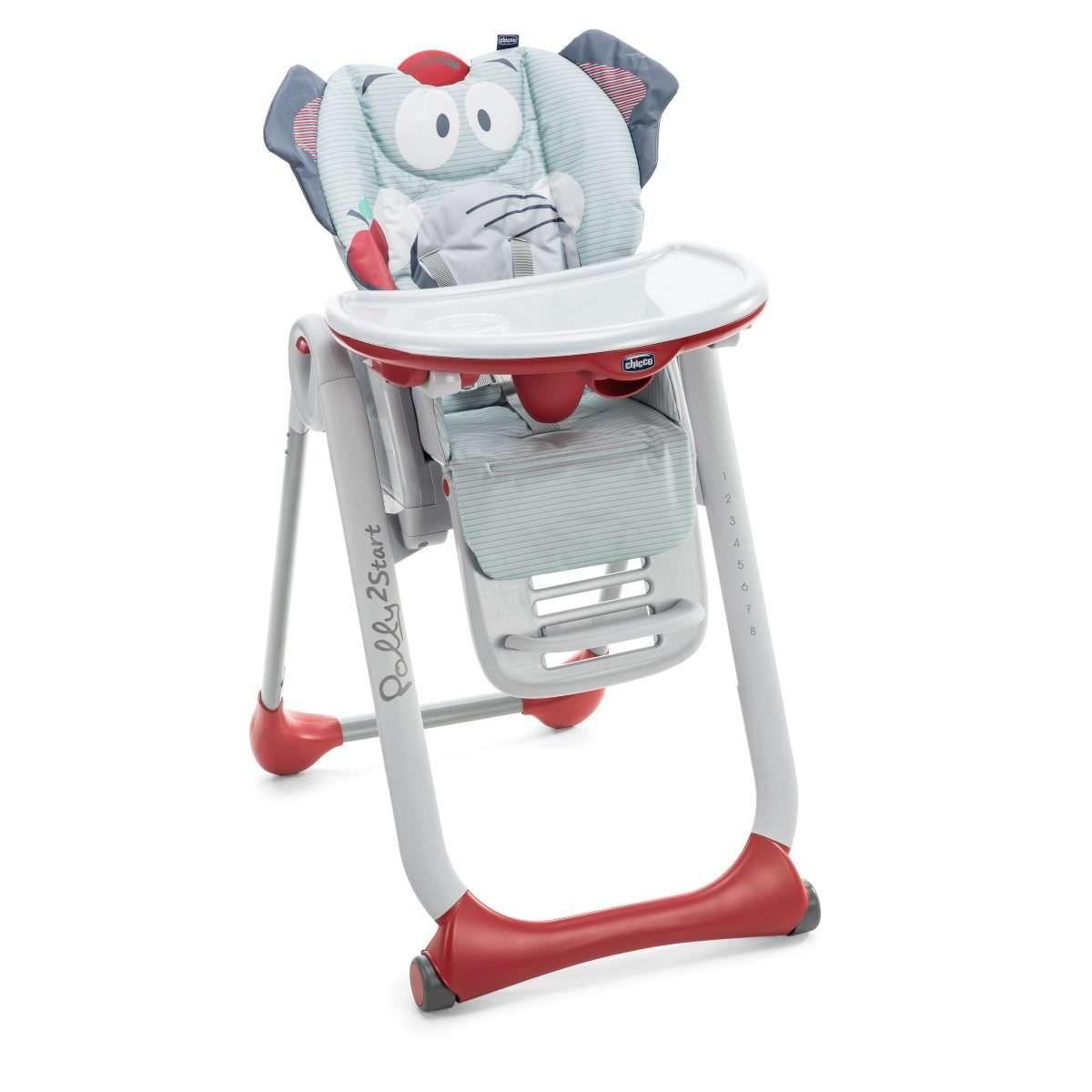 Cadeira de Alimentação Polly 2 Start Elephant - Chicco