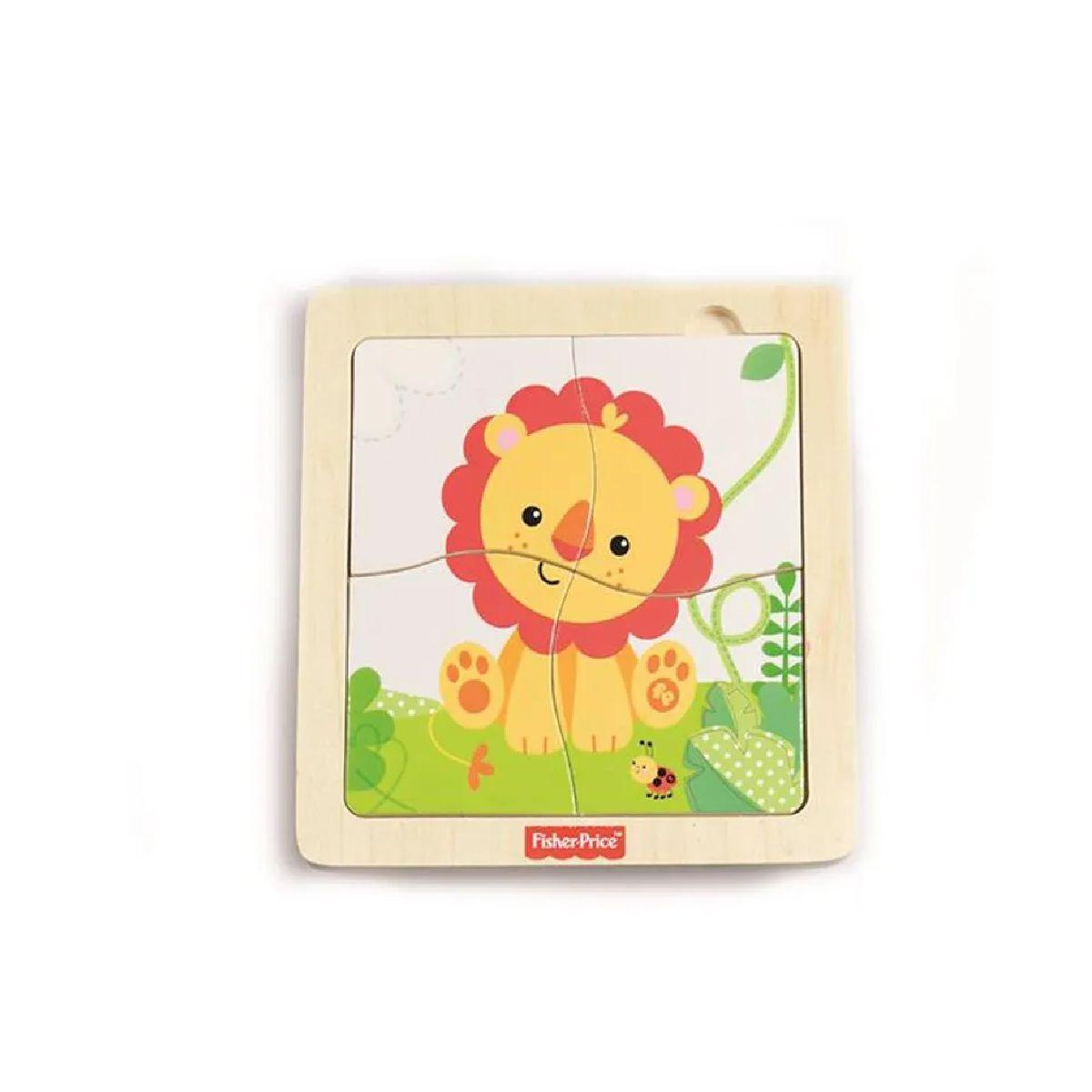Primeira Infância Quebra-Cabeça de Madeira Fisher-Price a Vida do Leão - BR988 - Multikids