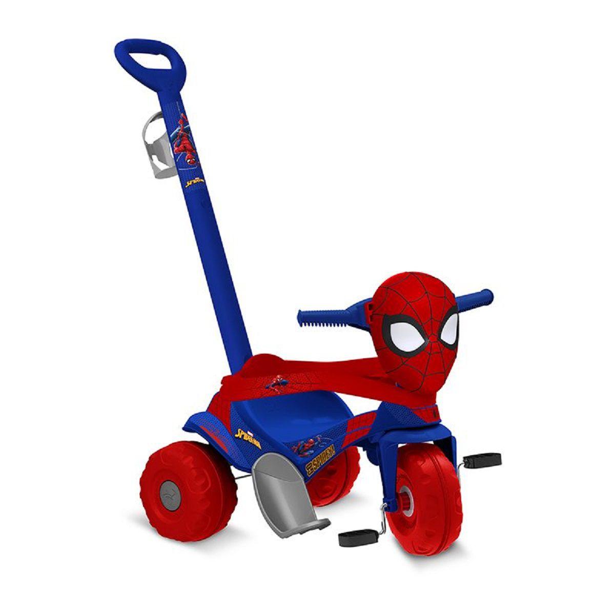 Triciclo Motoka Passeio e Pedal - Homem Aranha - Bandeirantes