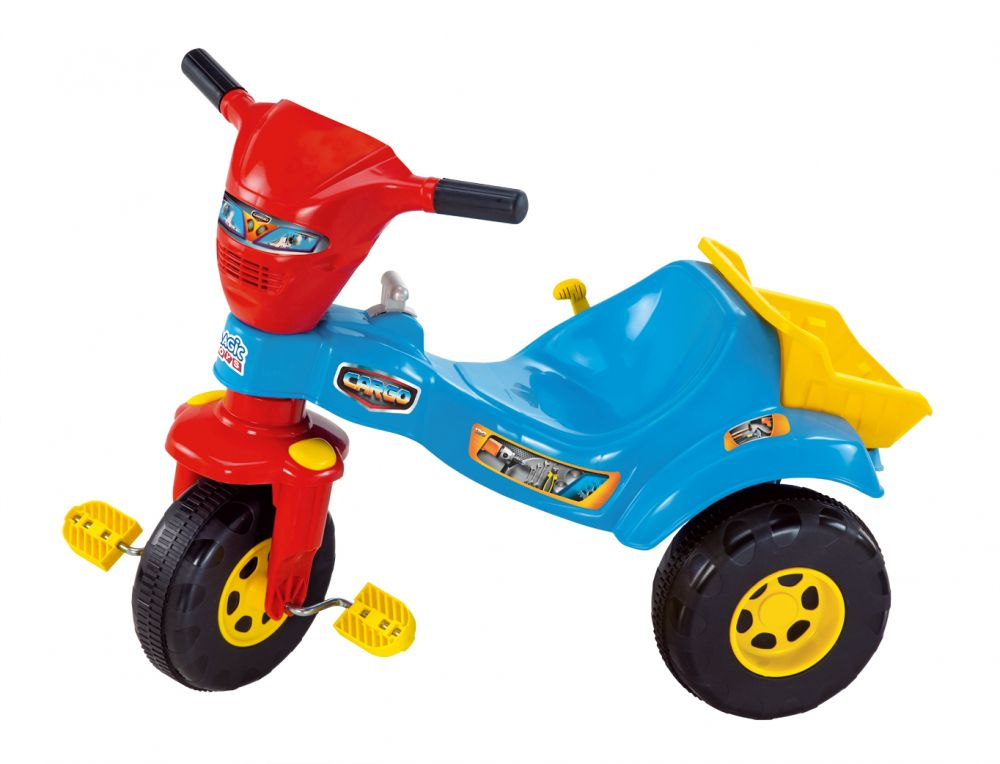Triciclo Tico Tico Cargo - Azul - Magic Toys