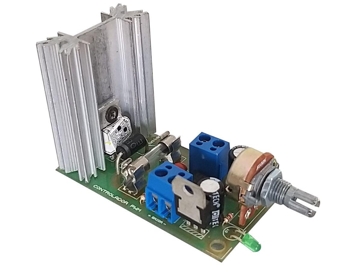 Controlador PWM Aberto - Motor 12V/24V 20A 0 a 100%