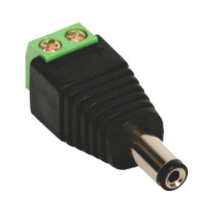 Plug P4 Macho de Borne  para Alimentação 12V