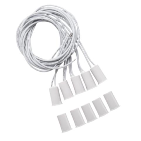 10 Pç XAS de Embutir Sensor de abertura de embutir com fio para portas e janelas