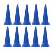 Kit com 10 Cones Agilidade Azul - 48cm - LiveUp