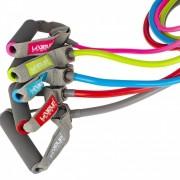 Kit Completo com 05 Extensores Elástico 1 Via - LiveUp