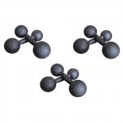 Kit Halteres de Ferro Fundido Pintado - Pares de 1, 2 e 3 Kg