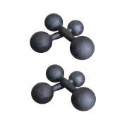 Kit Halteres de Ferro Fundido Pintado - Pares de 5 e 10 Kg
