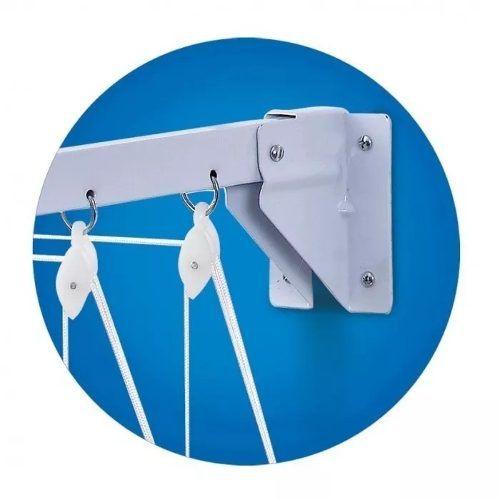 Varal Prático para Teto ou Parede em Aço 1,20m - Secalux