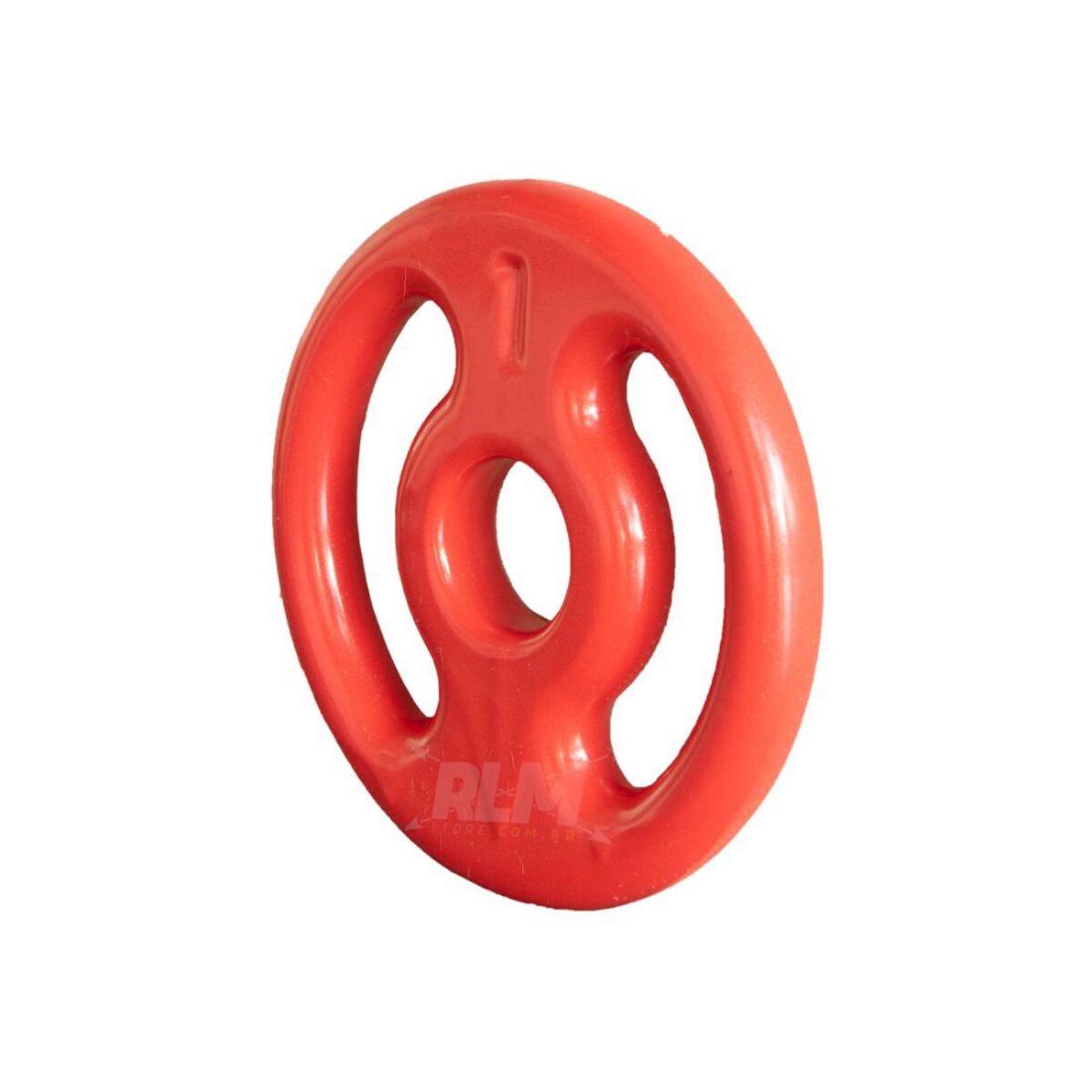 Anilha Emborrachada 1 Kg - Vermelha