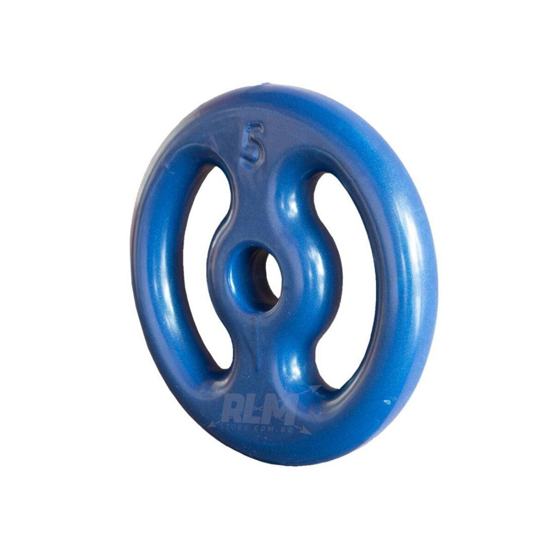 Anilha Emborrachada 5 Kg - Azul