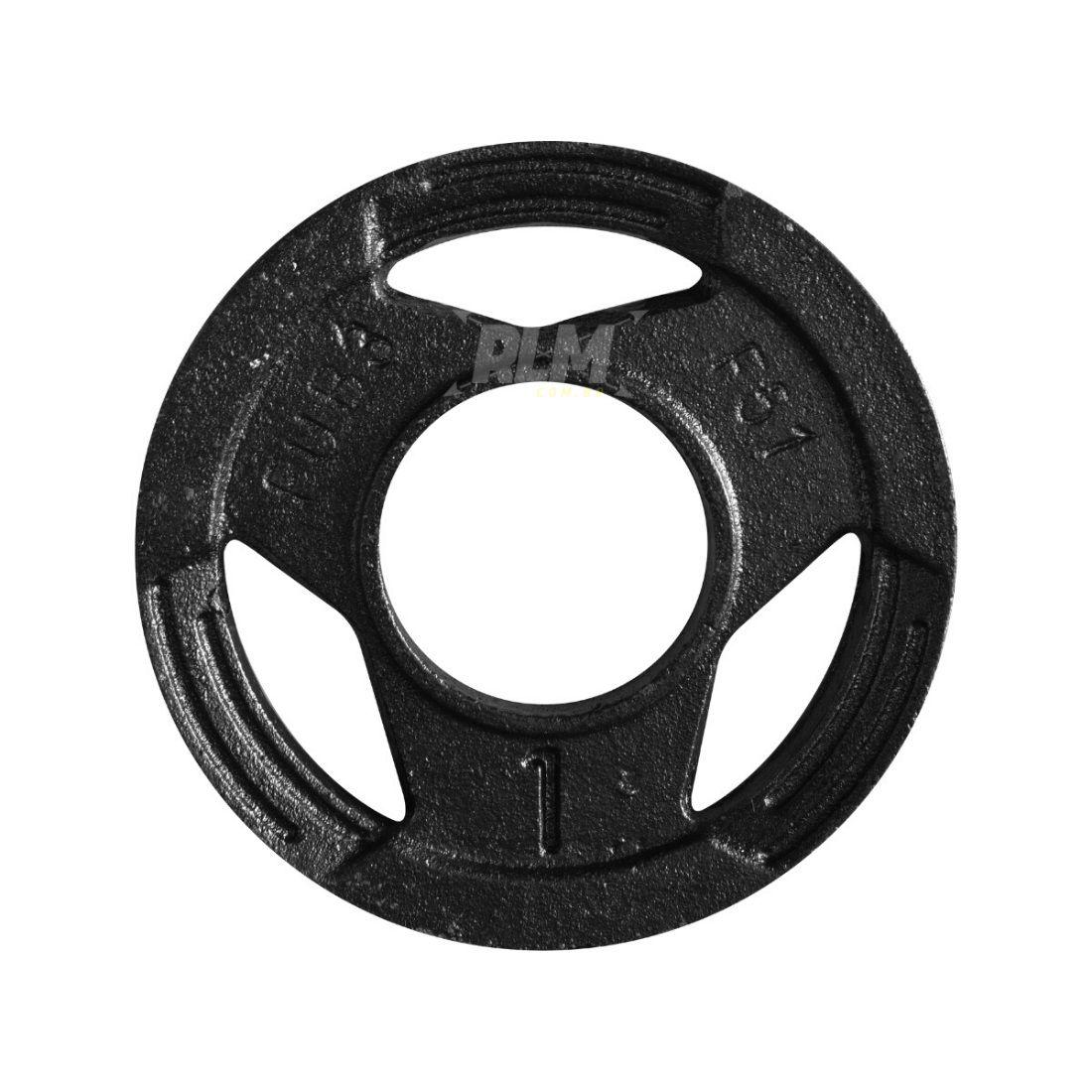 Anilha Sport Luxo Furação Olímpica 51mm - 1 Kg