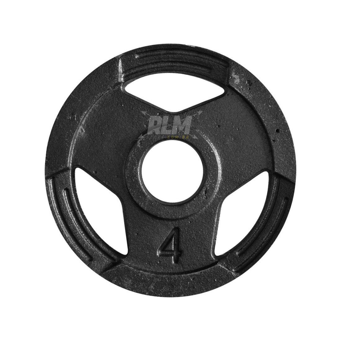 Anilha Sport Luxo Furação Olímpica 51mm - 4 Kg