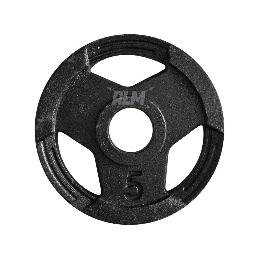 Anilha Sport Luxo Furação Olímpica 51mm - 5 Kg