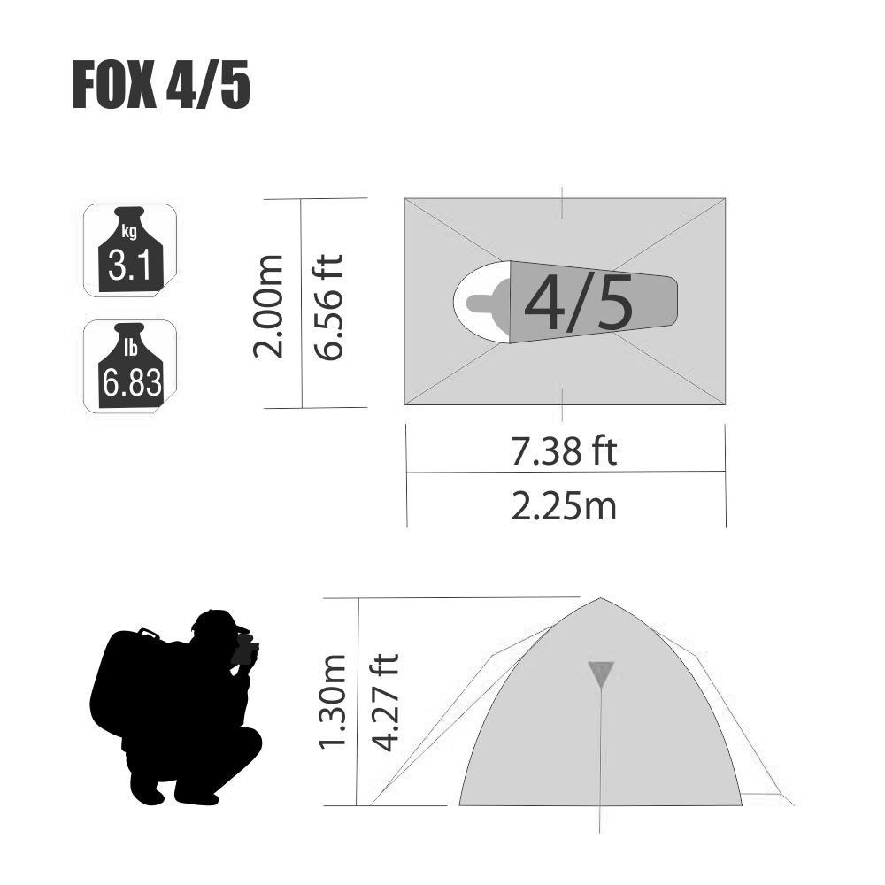 Barraca Fox 4/5 Pessoas Nautika