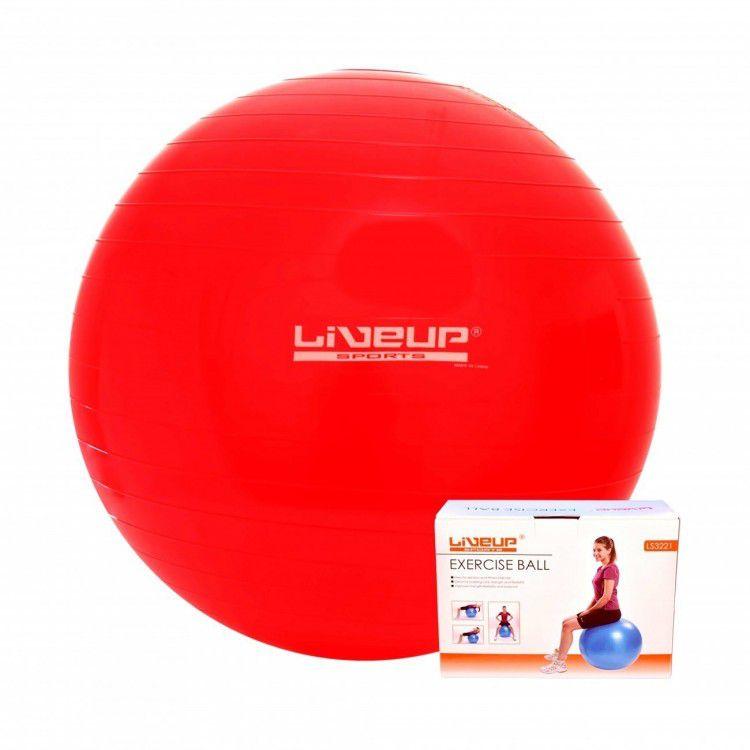 Bola Suíça para Pilates com Bomba de Inflar Live Up - 45cm