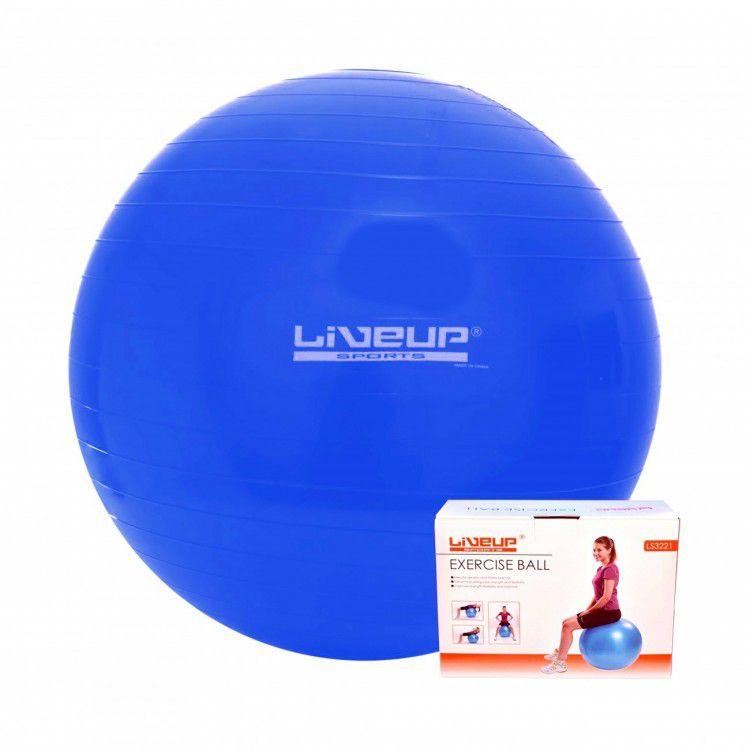 Bola Suíça para Pilates com Bomba de Inflar Live Up - 65cm