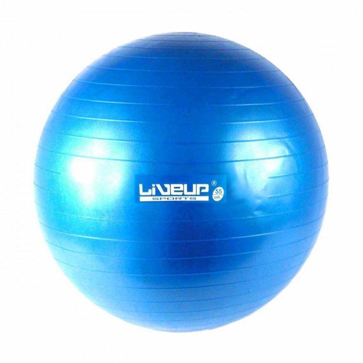 Bola Suíça para Pilates com Bomba de Inflar Live Up - 65cm Premium
