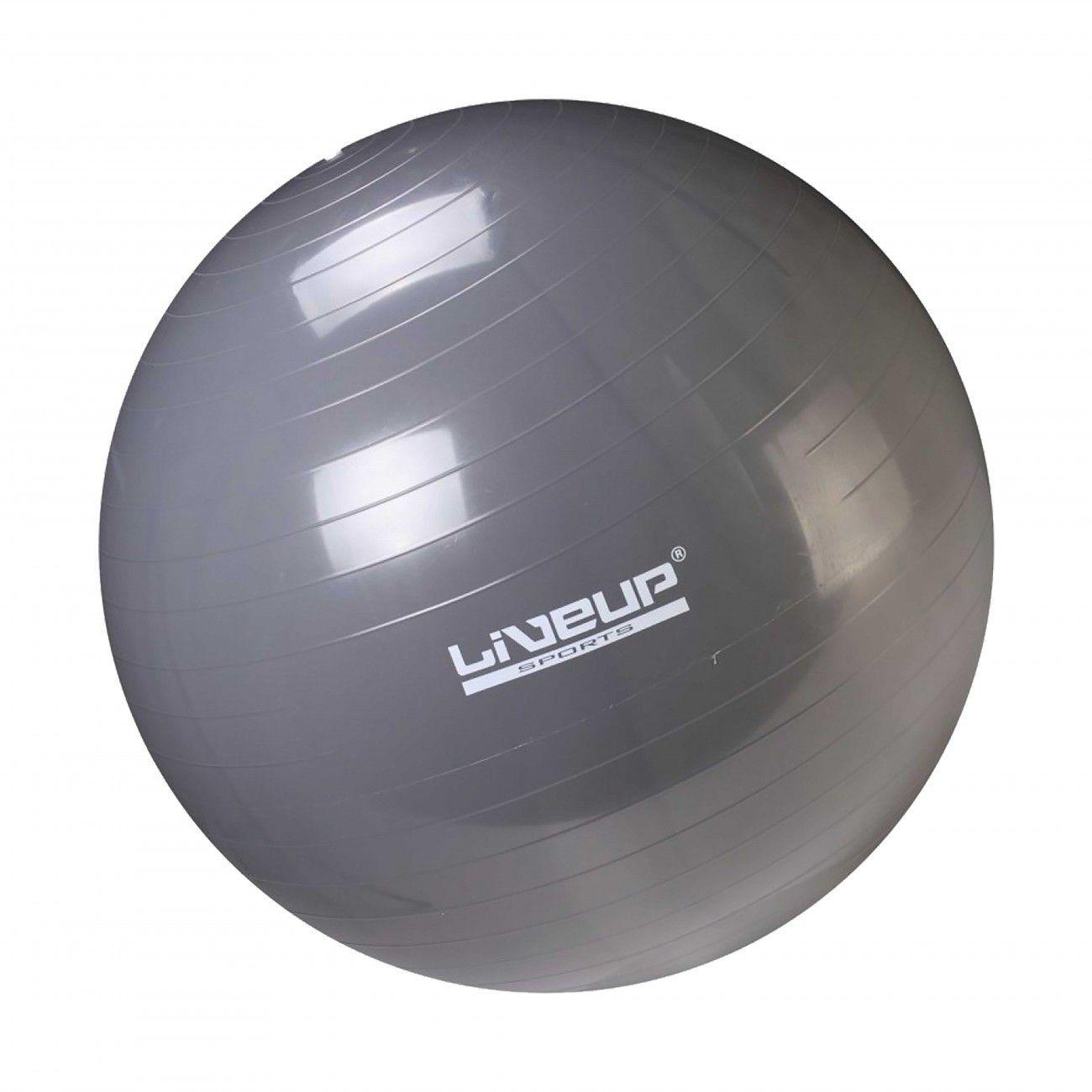 Bola Suíça para Pilates com Bomba de Inflar Live Up - 85cm