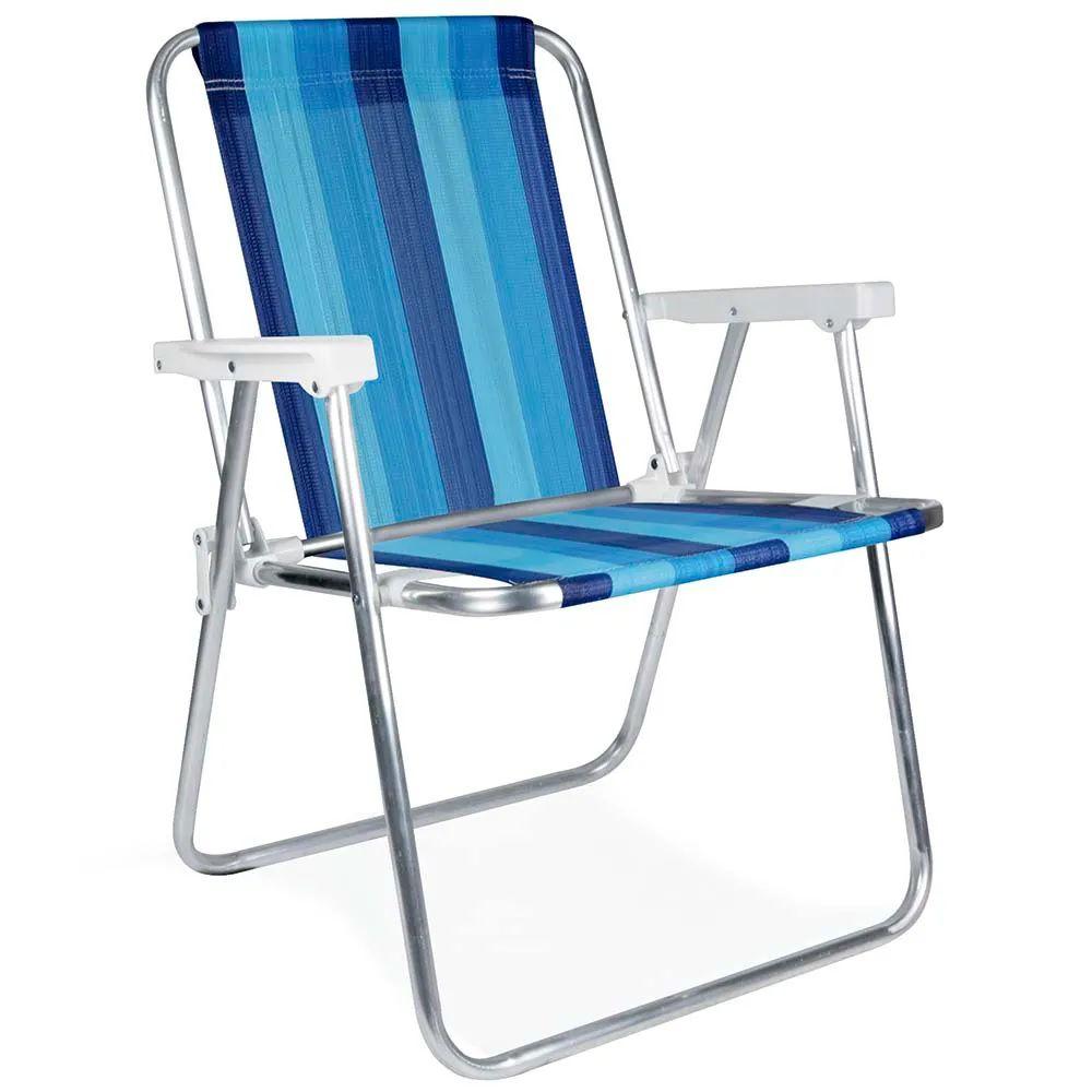Cadeira de Praia Alta em Alumínio Mor