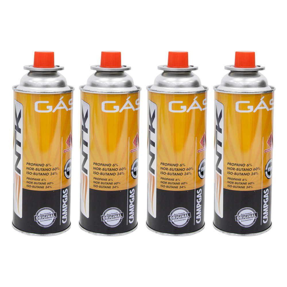 Caixa com 4 Cartuchos de Gás Nautika Campgás
