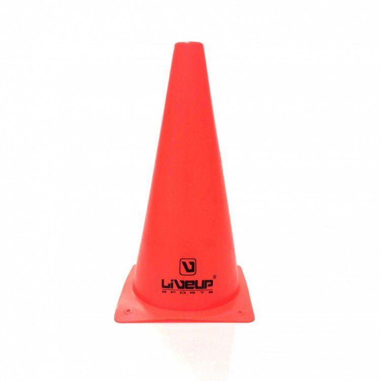 Cone de Agilidade Vermelho LiveUp - 28cm