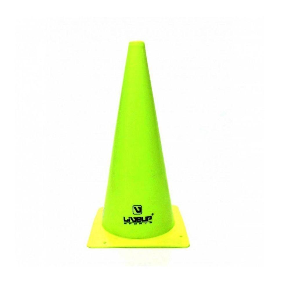 Kit com 10 Cones Agilidade Verde - 38cm - LiveUp