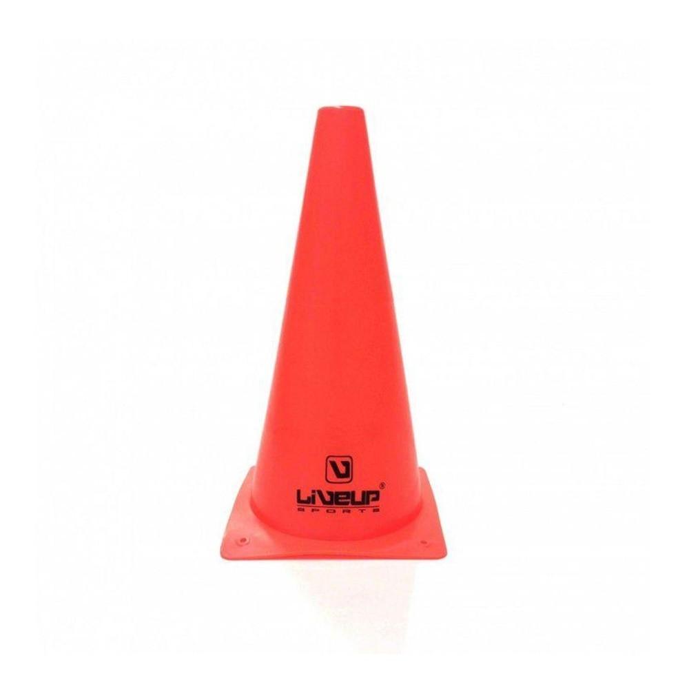 Kit com 10 Cones Agilidade Vermelho - 28cm - LiveUp