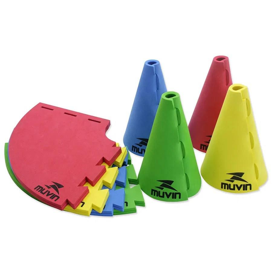 Kit com 12 Cones de Marcação em EVA 16cm - Muvin