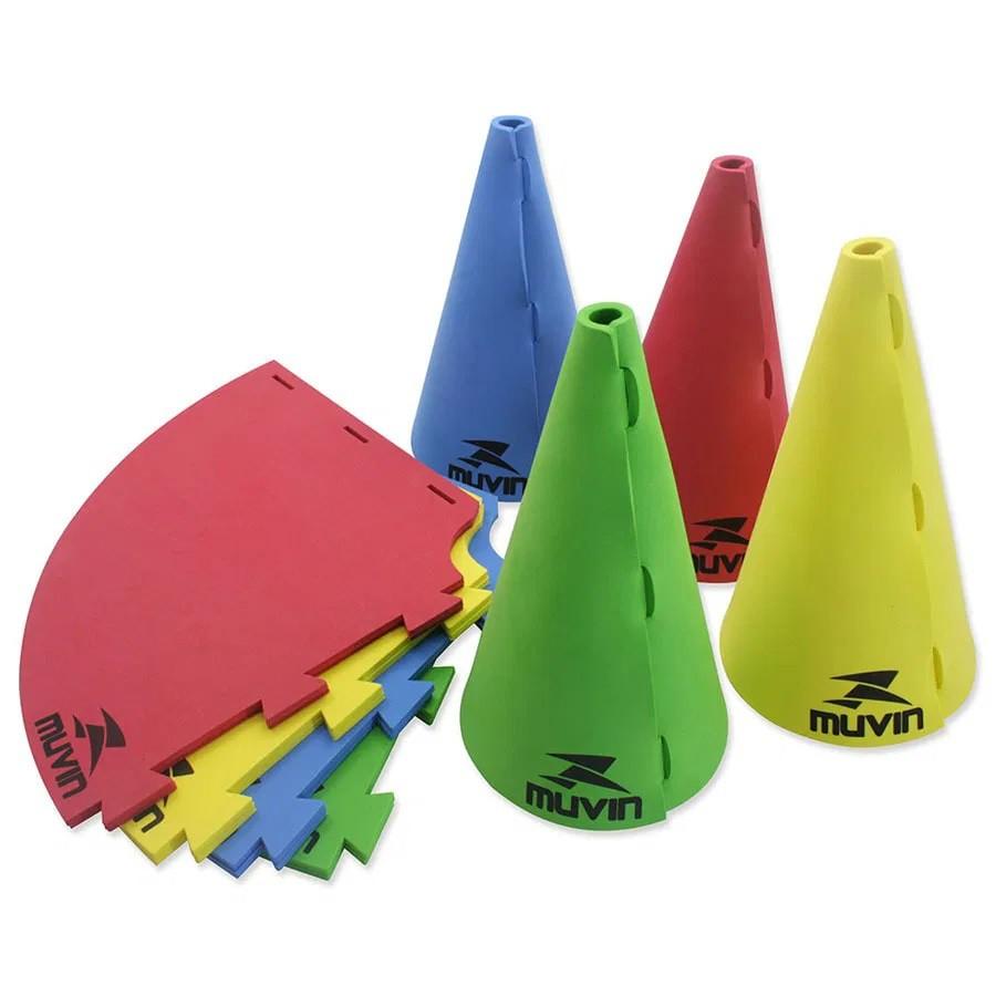 Kit com 12 Cones de Marcação em EVA 26cm - Muvin