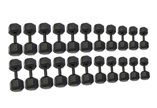 Kit de Dumbells Sextavado - Pares de 12 a 32 Kg