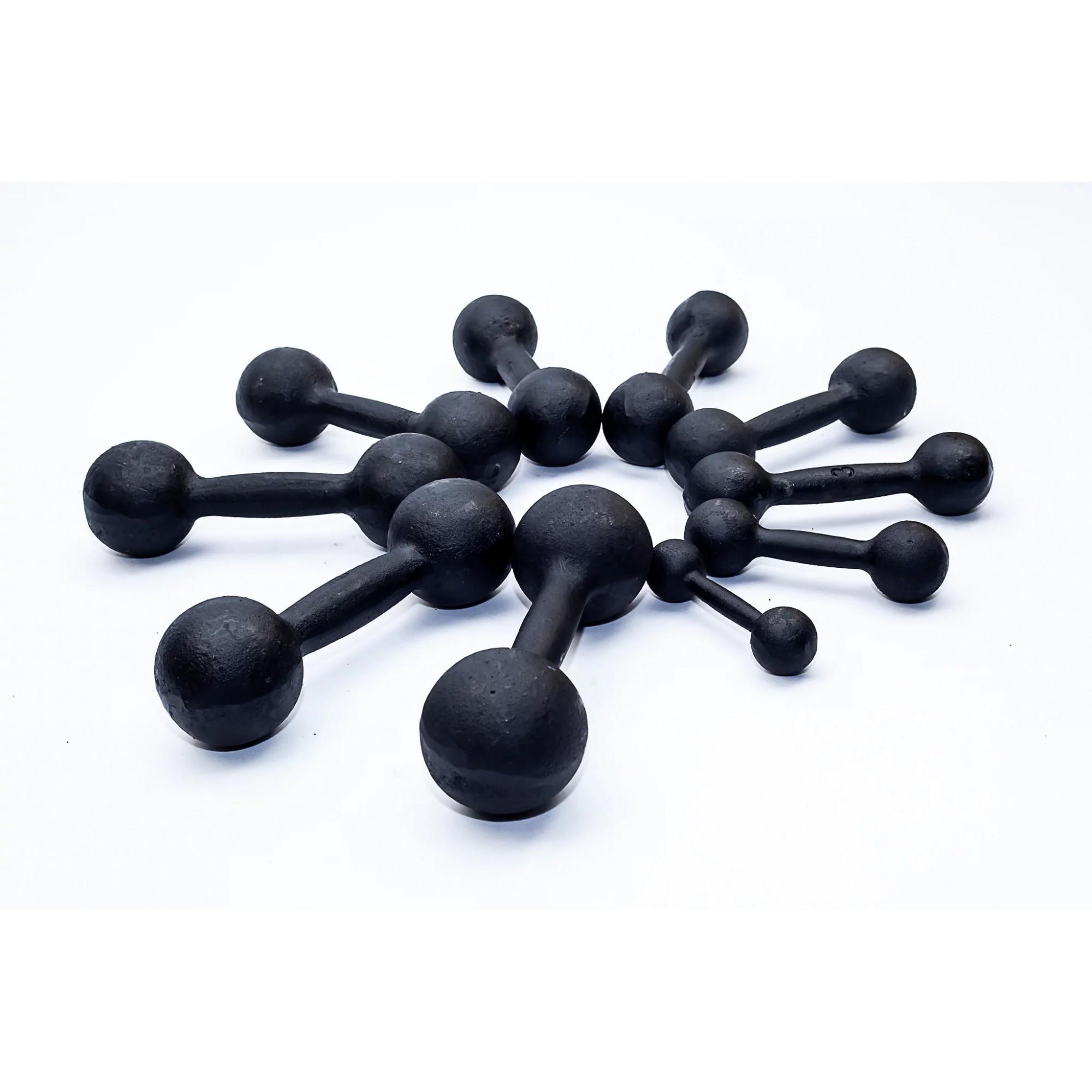 Kit Halteres de Ferro Fundido Pintado - Pares de 1 a 5 Kg