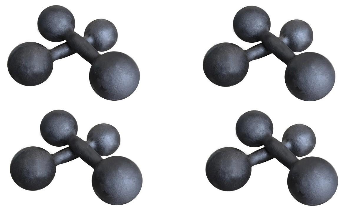 Kit Halteres de Ferro Fundido Pintado - Pares de 500g, 1, 2 e 3 Kg