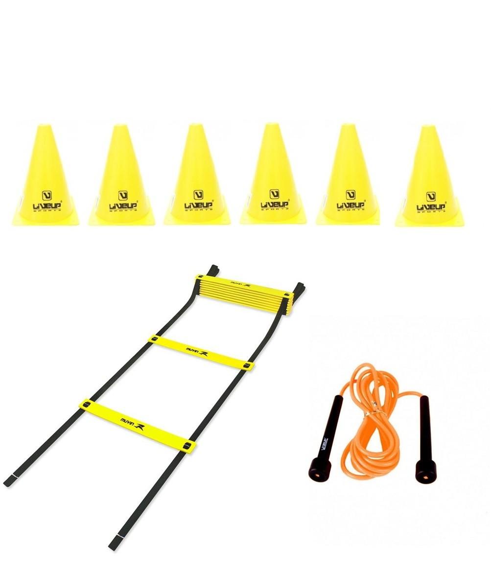 Kit Para Treinamento Funcional - Escada Agilidade + 06 Cones + Pula Corda