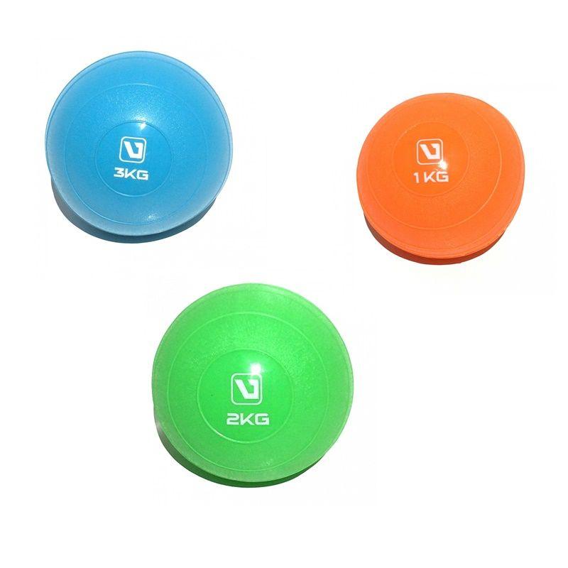 Kit Soft Ball Liveup 1Kg, 2Kg e 3Kg Heavy Ball