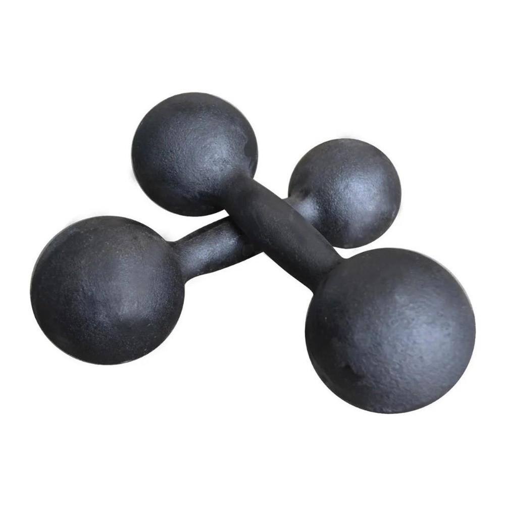Par de Halteres de Ferro Fundido Pintado - 5 Kg