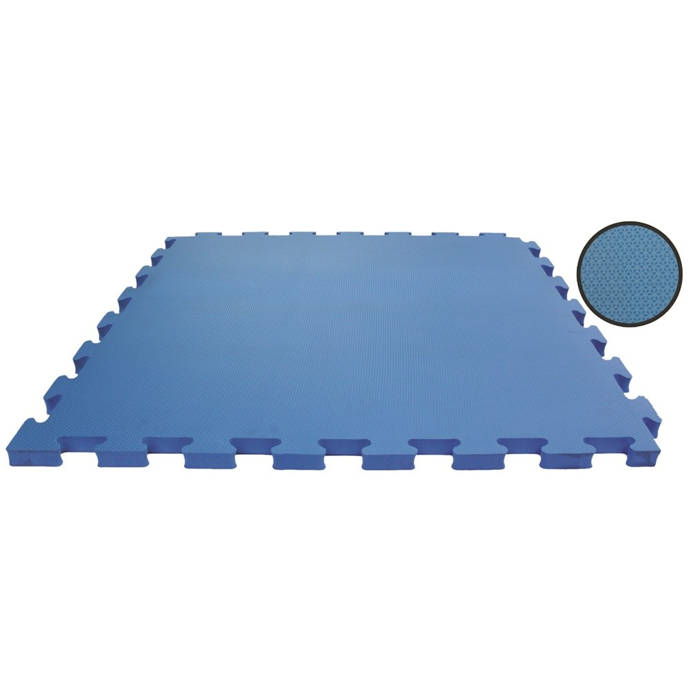 Tatame EVA Emborrachado 50x50cm - 10mm + 2 Bordas - Azul