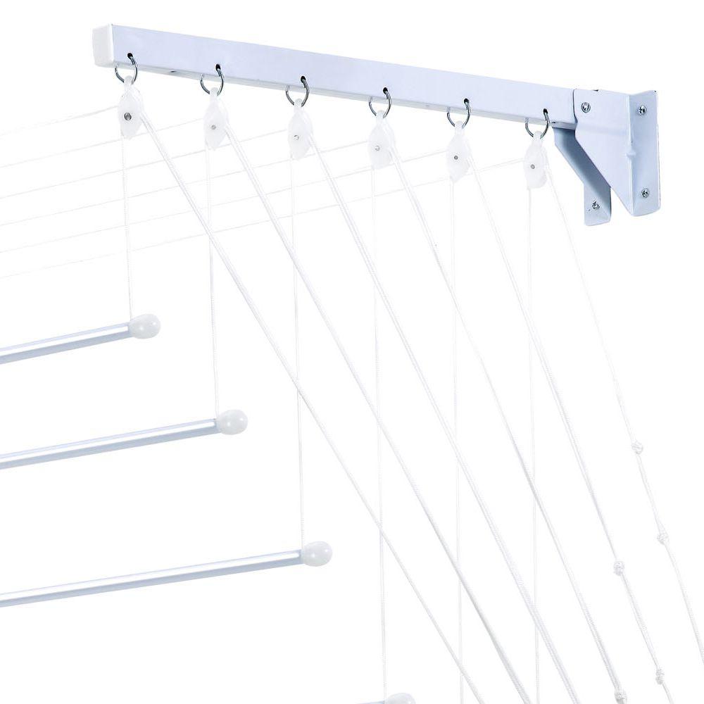 Varal Prático para Teto ou Parede em Aço 1,40m - Secalux