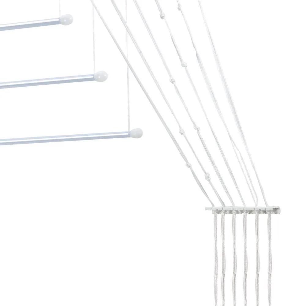 Varal Prático para Teto ou Parede em Alumínio 1,20m - Secalux