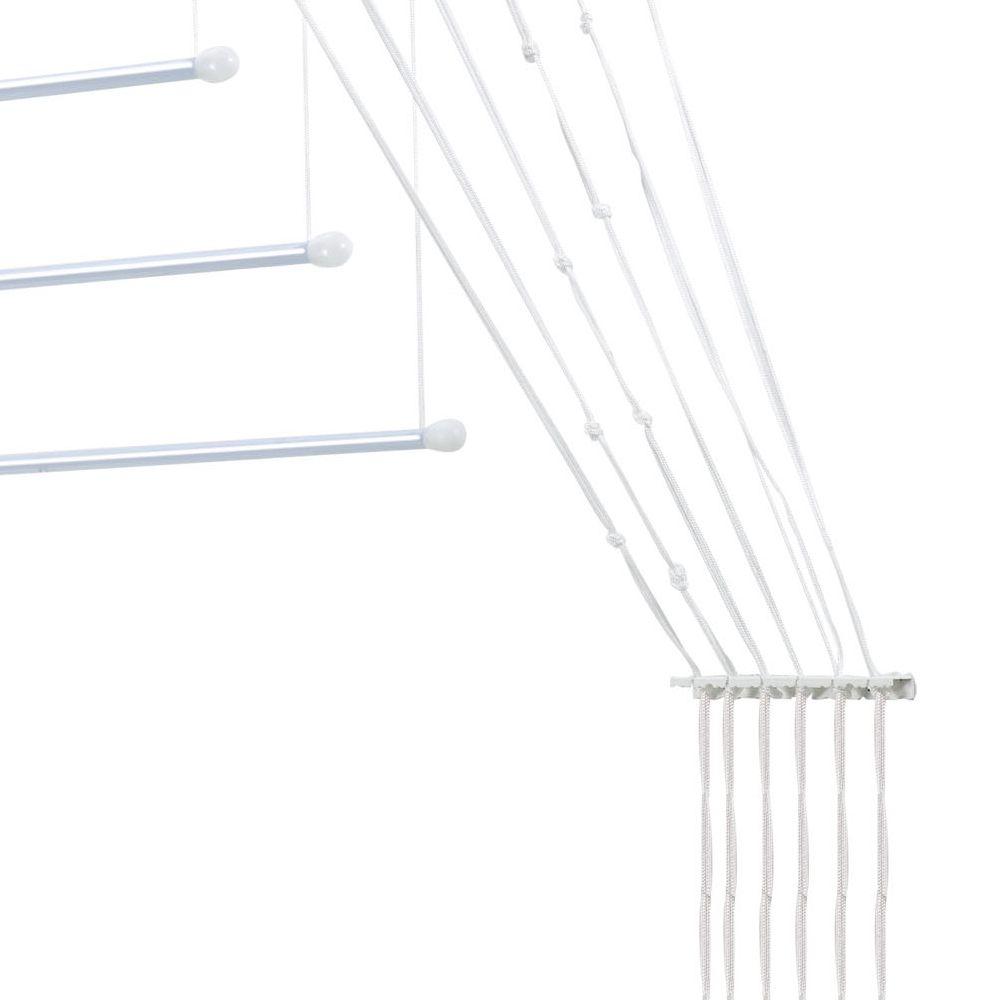 Varal Prático para Teto ou Parede em Alumínio 1,40m - Secalux