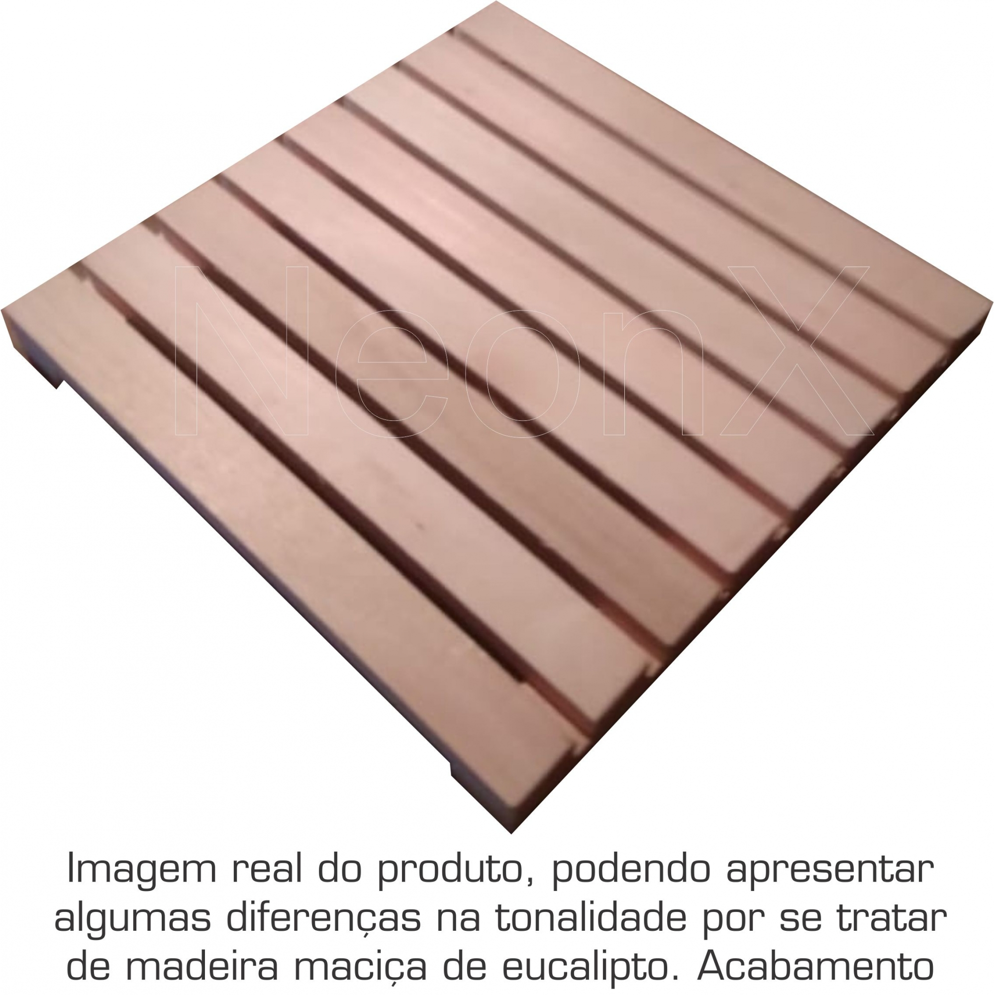 10 Un. Deck De Madeira Modular 40x40 Cm Acabamento Lixado Neonx