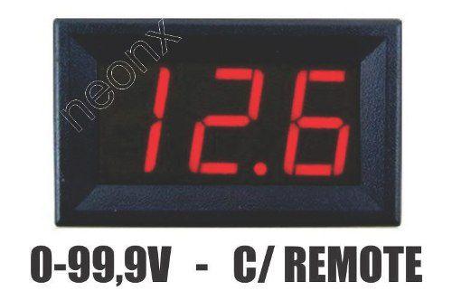 Voltímetro Digital Medidor Bateria Som Automotivo NeonX