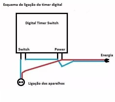 Timer Digital Lcd 12v Nano Programavel 17 Programações