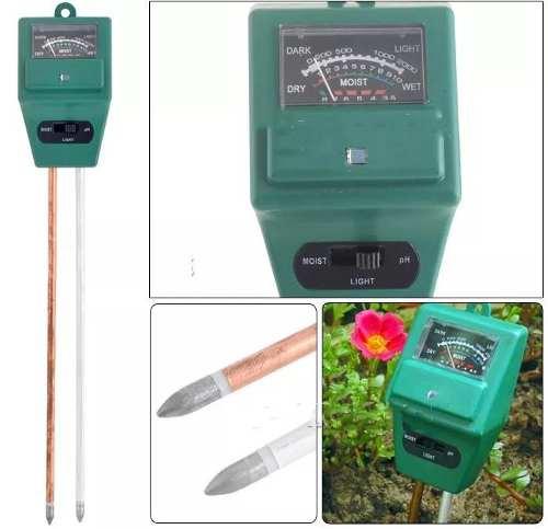 Medidor De Ph Terra Solo Luminosidade Umidade Jardim Plantas NeonX