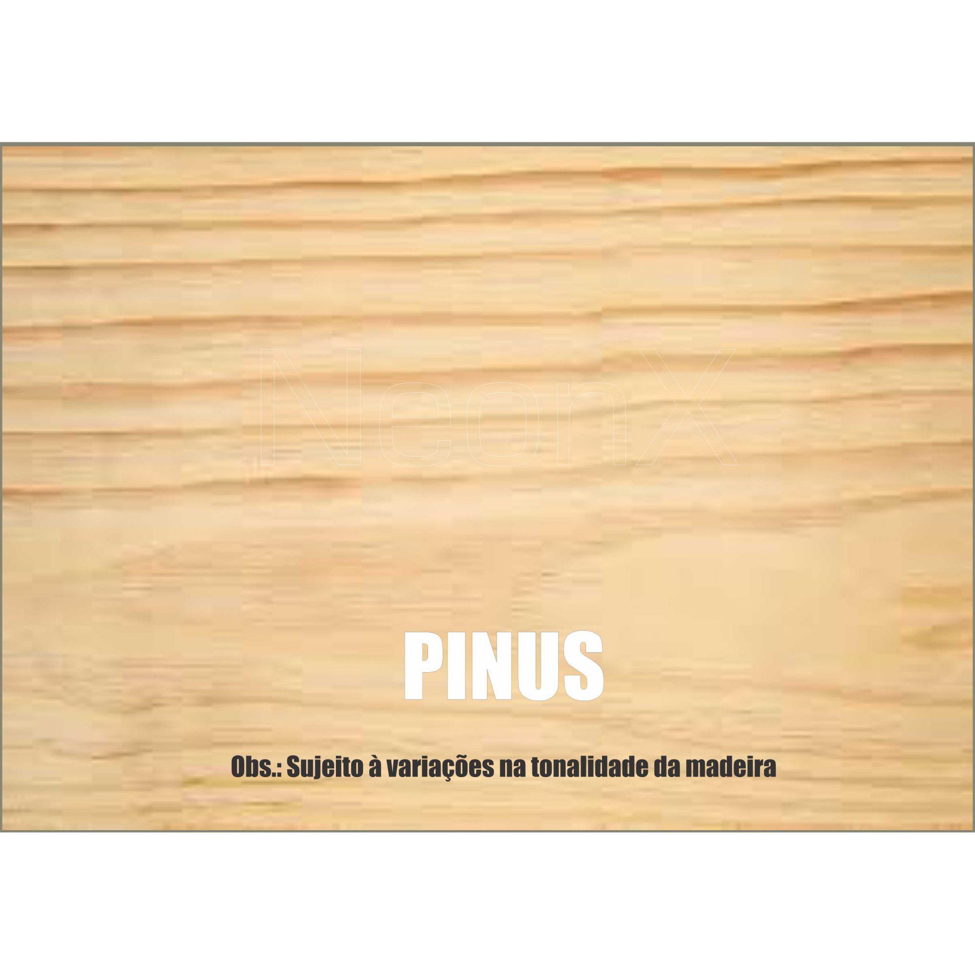 140 Un Ripa, Régua de Madeira 4x2x50 cm Aplainado NeonX