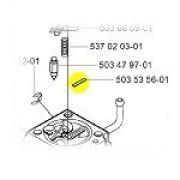 PLUG Carburador Motosserra Roçadeira 345/241/343/356BTx Cód 503535601 Husqvarna
